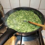 Sos szpinakowo-serowy do pasty