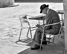Starszy pan z  Wenecji